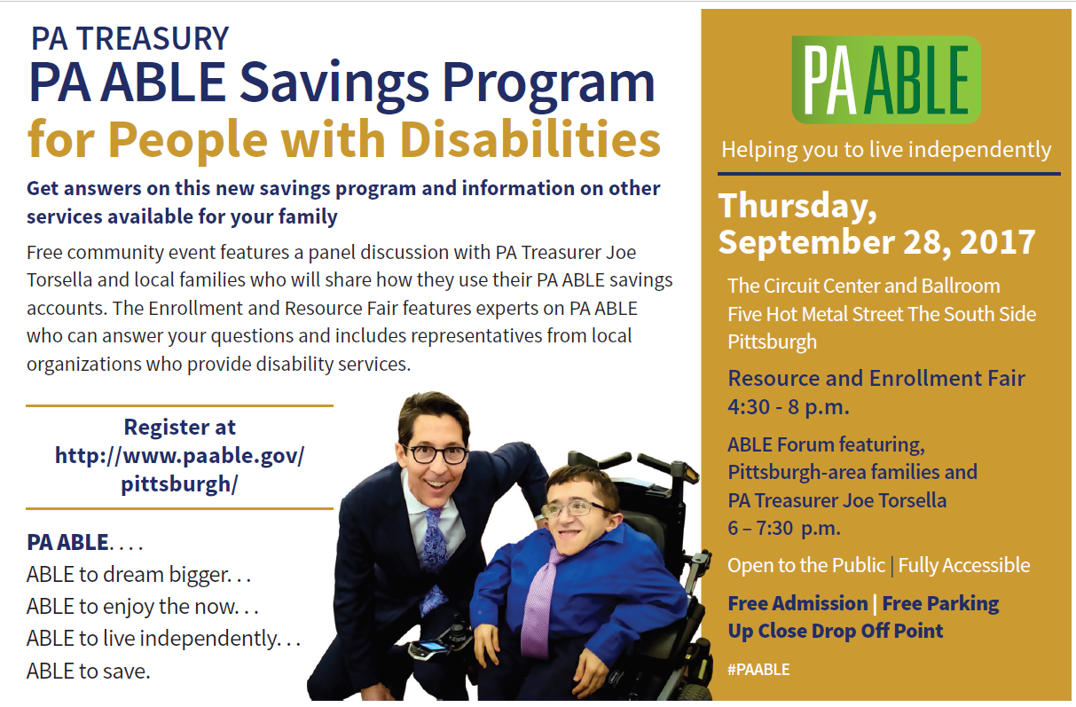 PA ABLE Account event Sept 2017