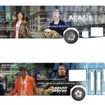 Port Authority buses are wrapped with images of riders with disabilities.