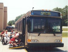 Image of a wheelchair accessible bus