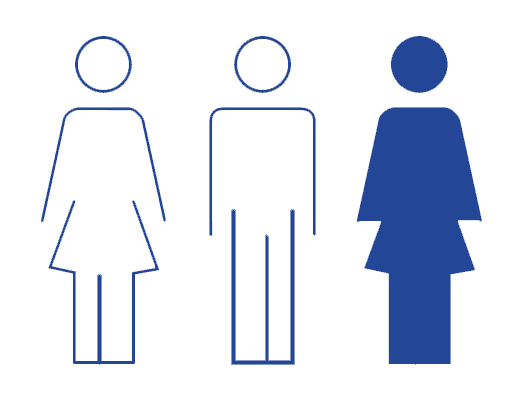 infographic highlighting 1 out of 3 people