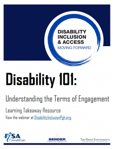 cover of Disability 101 takeaway