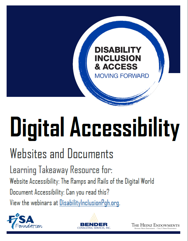 Cover of Digital accessibility of websites and documents learning takeaway