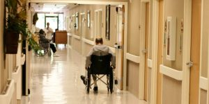 decorative image, nursing home corridor