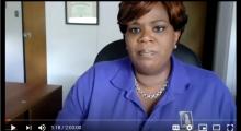 screenshot of Black Lives Matter In Schools Webinar, showing Kathi Elliott, CEO of Gwen's Girls