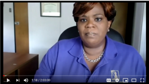 screenshot of Black Lives Matter In Schools Webinar, showing Kathi Elliott, CEO of Gwen's Girls