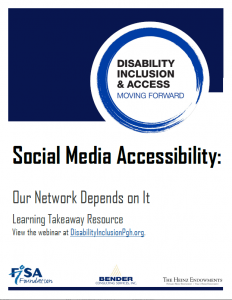 cover image of Social Media Accessibility learning takeaway document
